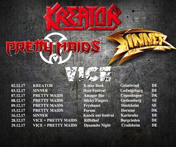 Auf Tour mit KREATOR, PRETTY MAIDS, SINNER und VICE