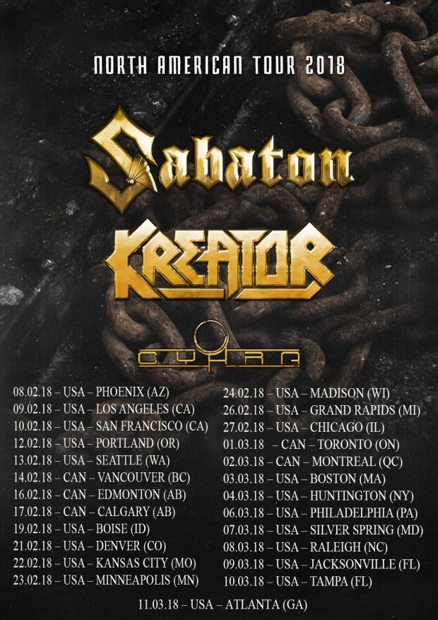 FOH-Engineer and Tourmanager for KREATOR North American Tour