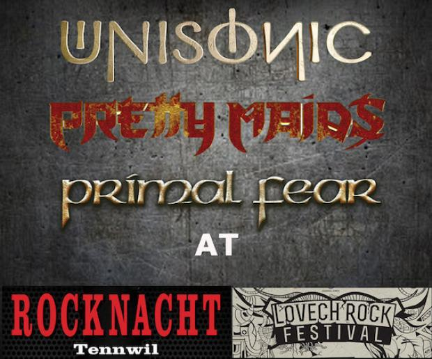 Shows mit PRETTY MAIDS,UNISONIC und PRIMAL FEAR