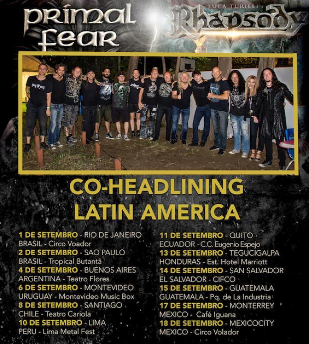 Latein Amerika Tournee mit PRIMAL FEAR und RHAPSODY