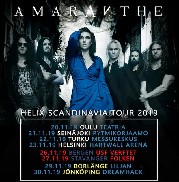 FOH Engineer and Tourmanager for AMARANTHE Nordic Tour