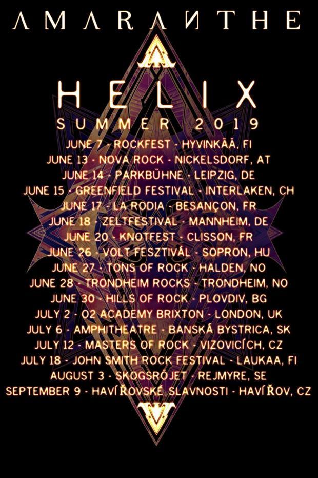 FOH-Soundengineer und Tourmanager für AMARANTHE´s Sommer Festival Tour