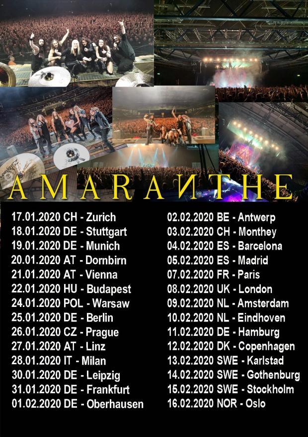 FOH Engineer und Tour Manager für AMARANTHE Europa Tour