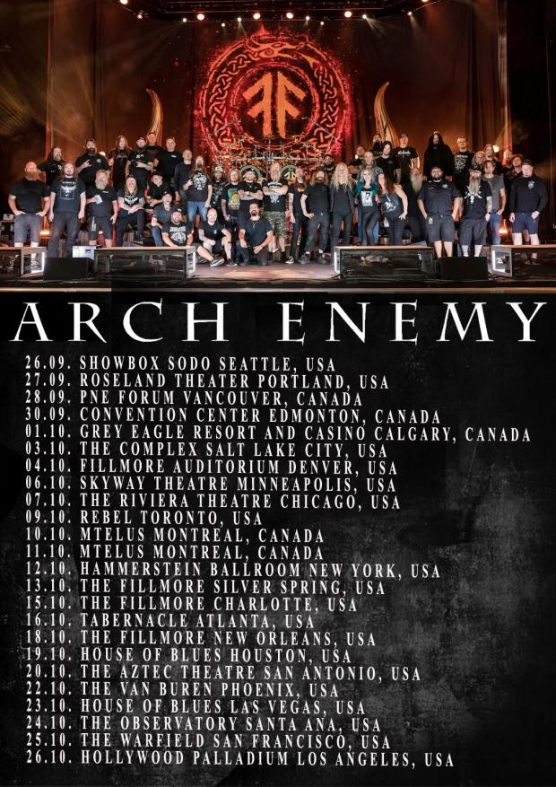 FOH-Soundengineer and Tourmanager for ARCH ENEMY in North America