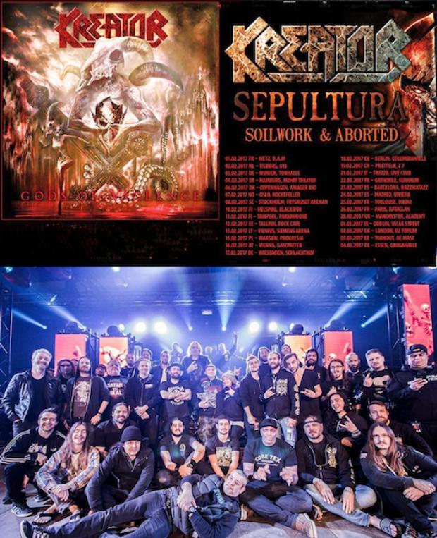 "KREATOR ""Gods of Violence"" Welt Tournee Teil 1"