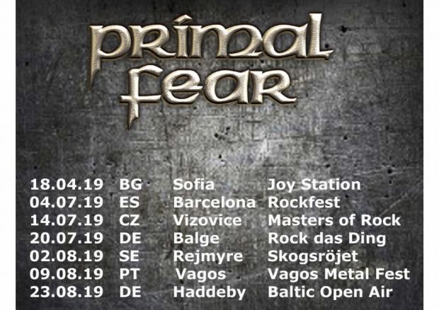 FOH Soundengineer und Tourmanager für PRIMAL FEAR Sommer Festivals