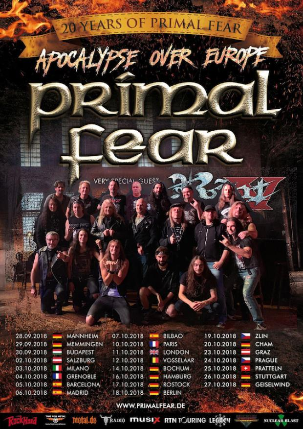 Tourmanager and FOH-Soundengineer for PRIMAL FEAR and RIOT V
