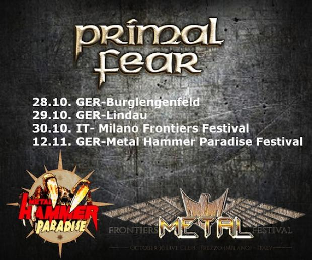 Tourmanager and FOH-soundengineer für PRIMAL FEAR